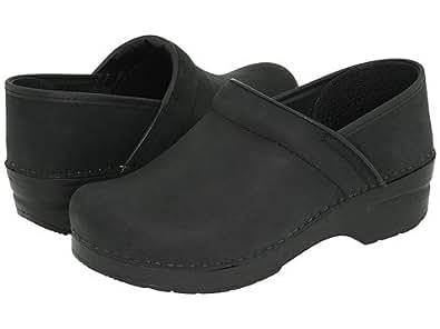 (ダンスコ) Dansko レディースクロッグズ・ミュール・スライド・靴 Professional Black Oiled US Women's 4.5-5 22.5-23cm Regular [並行輸入品]
