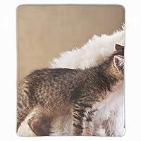 マウスパッド 子犬の子猫の友達動物のお手入れ 滑り止め レーザー&光学式マウス対応