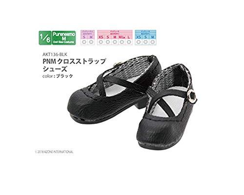 ピュアニーモ用 PNM クロスストラップシューズ ブラック (ドール用)