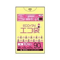 サンキョウプラテック エコ袋 90L 0.040厚 黄 10枚入×30冊 UY-90