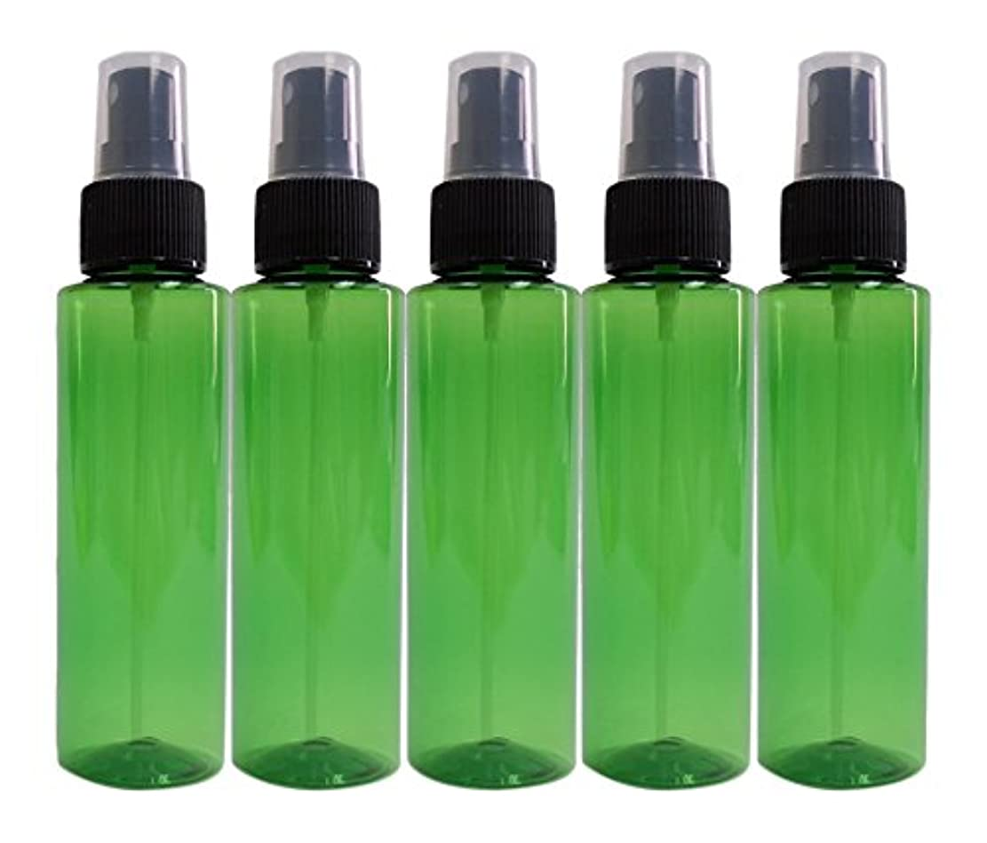 パノラマ想起トラブルease 保存容器 スプレータイプ プラスチック 緑色 100ml×5本