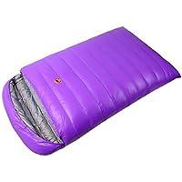Obert Double People封筒Sleepingバッグ1800 gホワイトDuck Down防水キャンプハイキング大人用220 cm130 cm