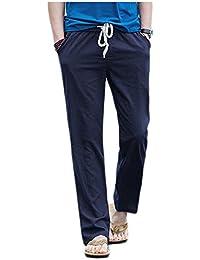 [フローライズ] カジュアル パンツ きれいめ ゆったり ドローコード付き メンズ