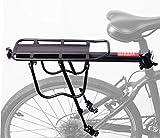 COMINGFIT® 調節可能な自転車荷物貨物ラック、超強力なアップグレード自転車荷物キャリア