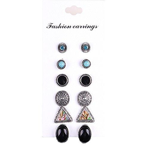 [해외]OUYOU 피어스 귀걸이 귀걸이 큐빅 액세서리 단순 소중한 사람에게 선물 생일 기념일 선물 6 쌍 세트/OUYOU earrings ladies earrings earrings cubic zirconia accessories simple gift for important people birthday anniversary gifts 6 pair set