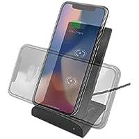 エアージェイ 5000mAhモバイルバッテリー内臓 Qi対応 ワイヤレス充電スタンド AWJ-PM10 GY