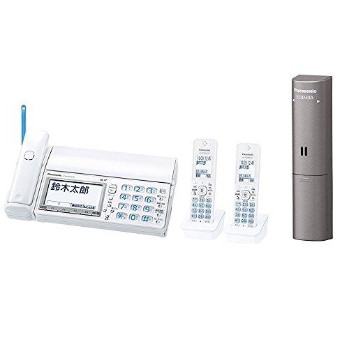 パナソニック デジタルコードレスFAX 子機2台付き 迷惑電話対策機能搭載 ホワイト KX-PD715DW-W + ドアセンサー 1個入 ECID30A セット