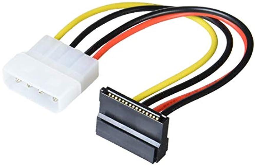 軽減作曲するヒュームGroovy SATA用電源変換ケーブル(L型) GN-PW010SAL