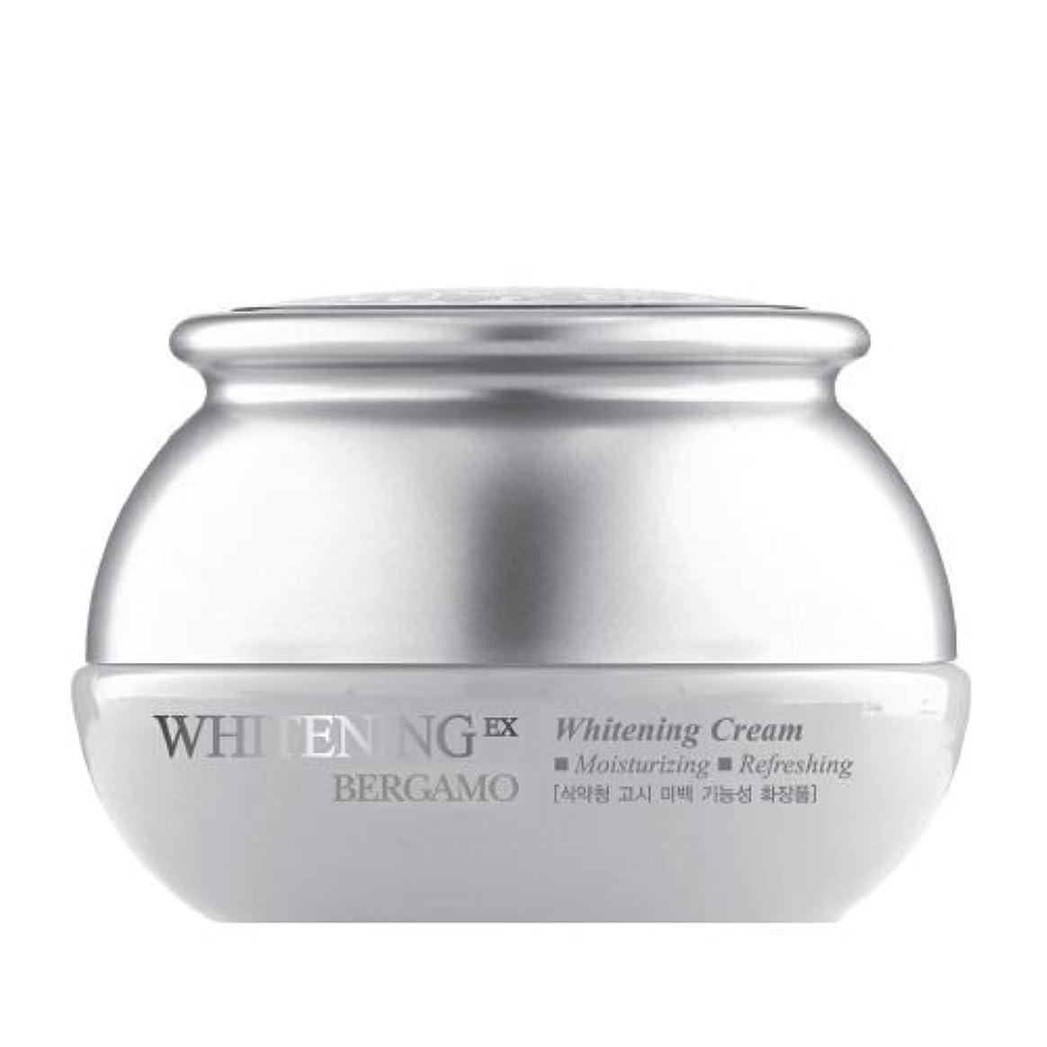 爪暖かく前文ベルガモ[韓国コスメBergamo]Whitening EX Wrinkle Care Cream ホワイトニングEXリンクルケアクリーム50ml しわ管理 [並行輸入品]