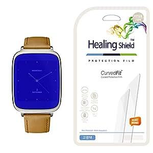 [Healing Shield] Asus Zenwatch 專用 プレミアム クリアタイプ気泡レス フルカバー液晶保護フィルム 3枚