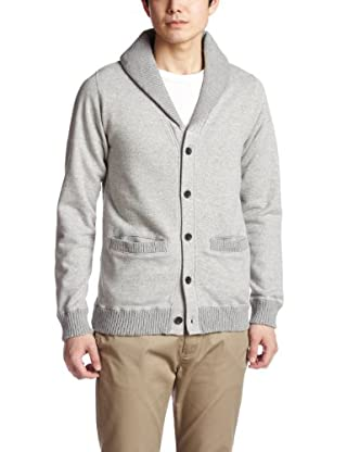 Cotton Linen Shawl Collar Sweat Cardigan 38-13-0030-103: Grey