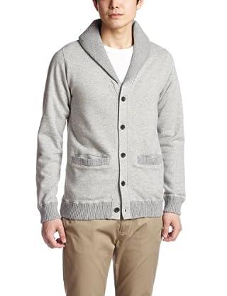 Cotton Linen Shawl Collar Sweat Cardigan 38-13-0030-103: Grey