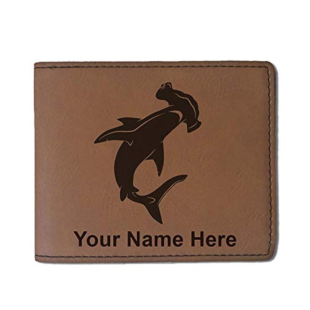 硬さラオス人金銭的フェイクレザー財布 – Hammerhead Shark – カスタマイズ彫刻Included (ダークブラウン)