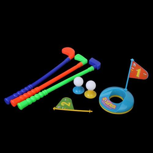 【ノーブランド品】子供 多色 プラスチック ゴルフ おもちゃ...