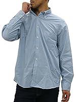[カンタベリーウッド] 大きいサイズ メンズ シャツ ライトブルー 5L