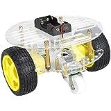 gazechimp シャーシロボットカー スピードエンコーダ DIYロボット車 DC減速モータ フレーム