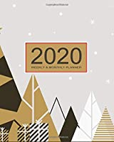 2020 Planner Weekly & Monthly 8x10 Inch: Happy New Year One Year Weekly and Monthly Planner + Calendar Views, journal, for Men, Women, Boys, Girls, Kids Daily Pretty Simple Essentials Organizer, appointment book, notebook, agenda, New Year