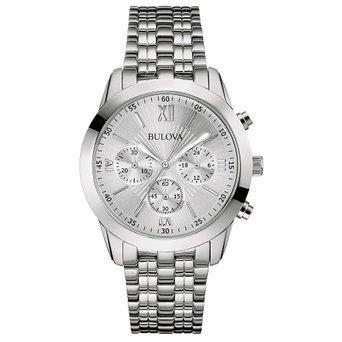 [ブローバ] Bulova 腕時計 Mens Dress Chronograph White Silver Watch クォーツ 96A163 【並行輸入品】