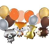 森の生き物 バルーン - 森の生き物 動物型 デコレーション ベビーシャワーや誕生日パーティーのお祝いに - (14個のバルーン)