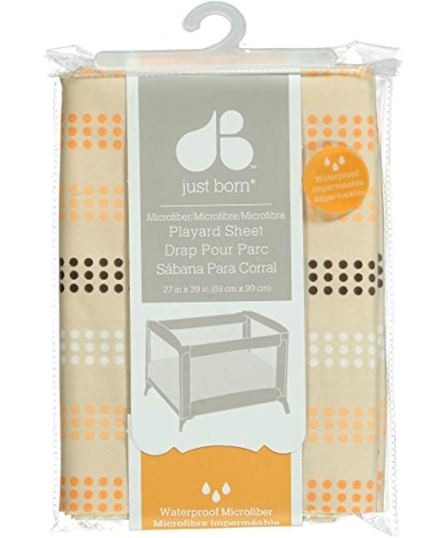 Just Born Dotty Fun Playard Sheet - orange/beige, one size by Just Born