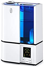 TaoTronics Cool Mist Humidifier, 4L Ultrasonic Humidifiers for Large Bedroom Home Baby, Quiet Operation, LED D