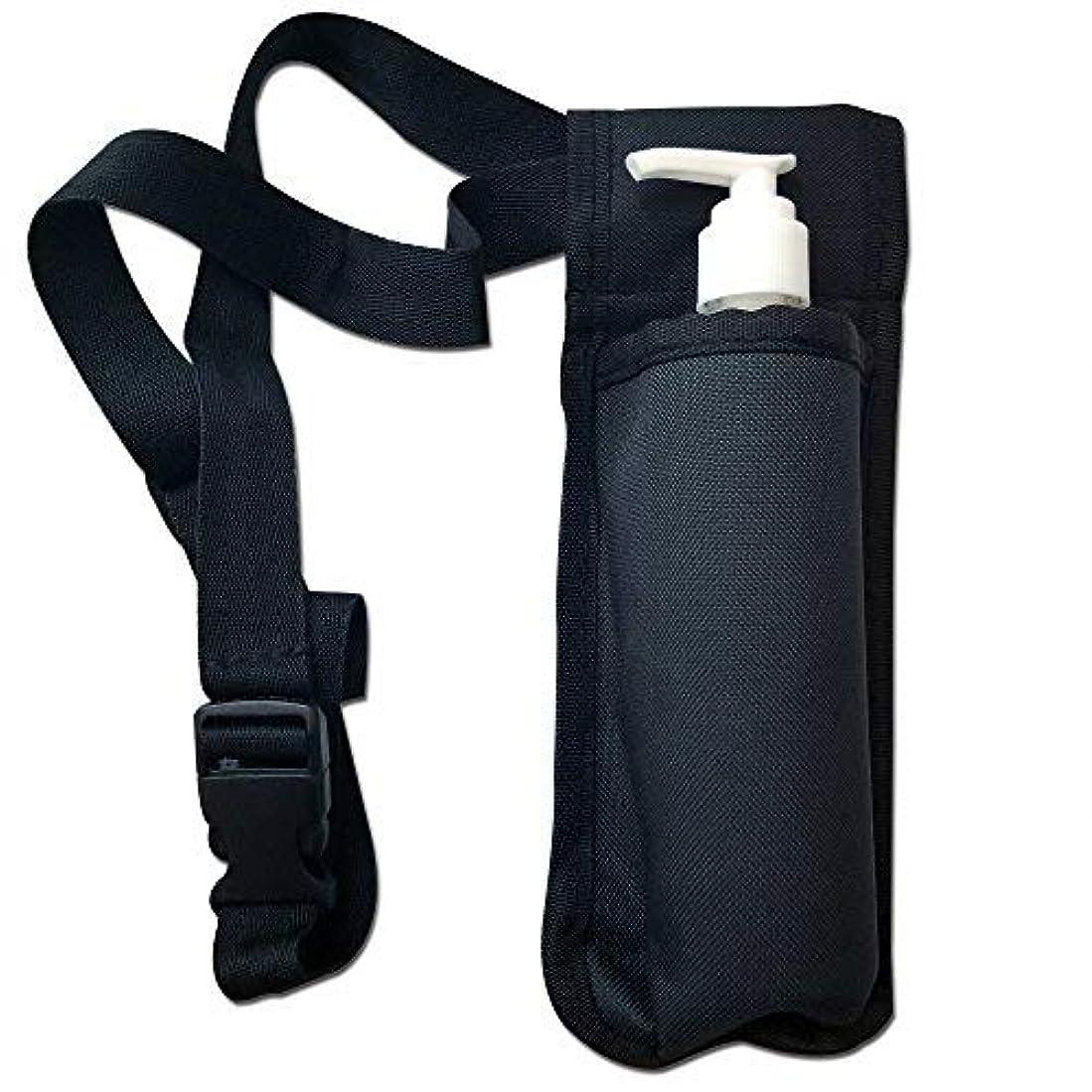 外部私たちの照らすTOA Single Bottle Holster Adjustable Strap w/ 6oz Bottle for Massage Oil, Lotion, Cream [並行輸入品]