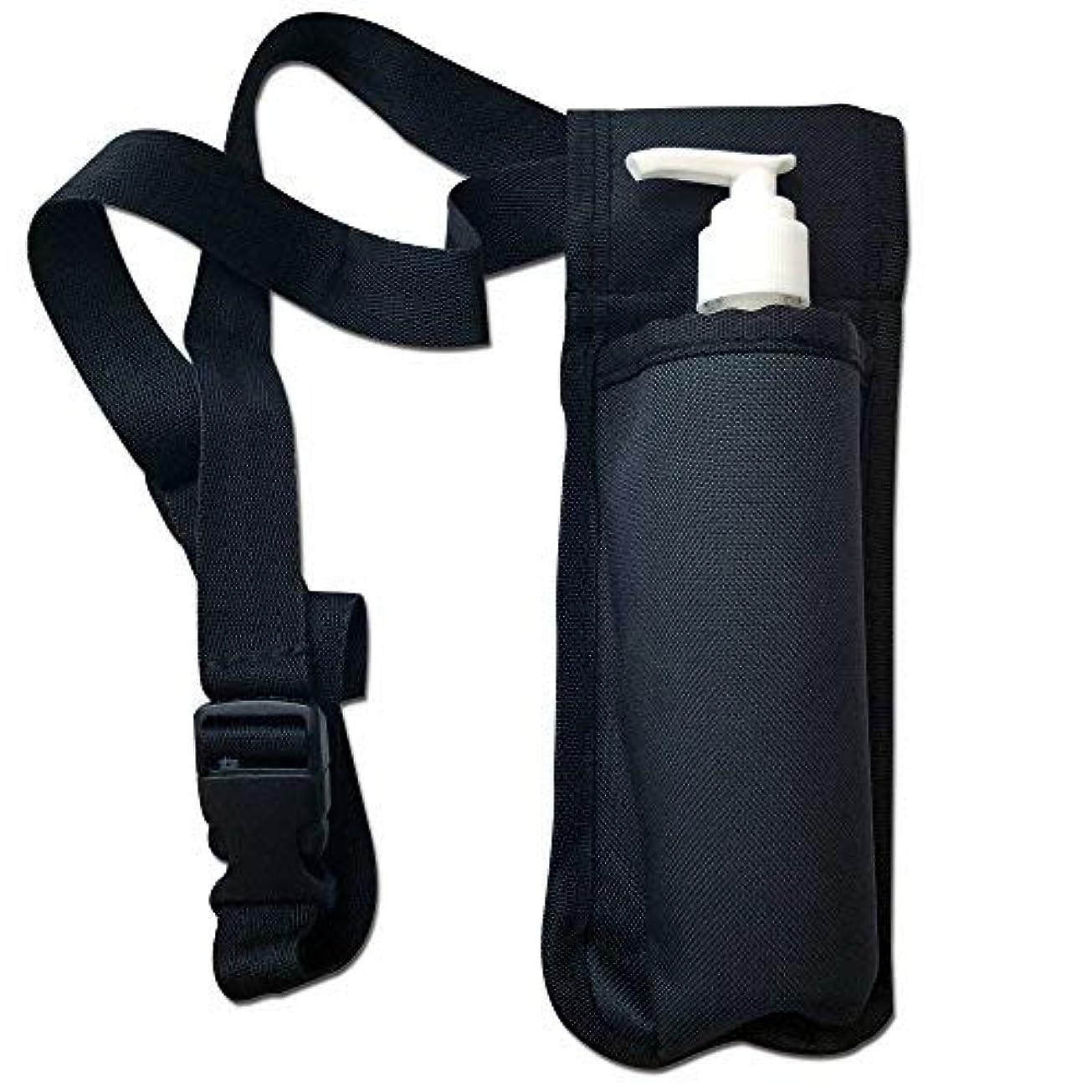 TOA Single Bottle Holster Adjustable Strap w/ 6oz Bottle for Massage Oil, Lotion, Cream [並行輸入品]