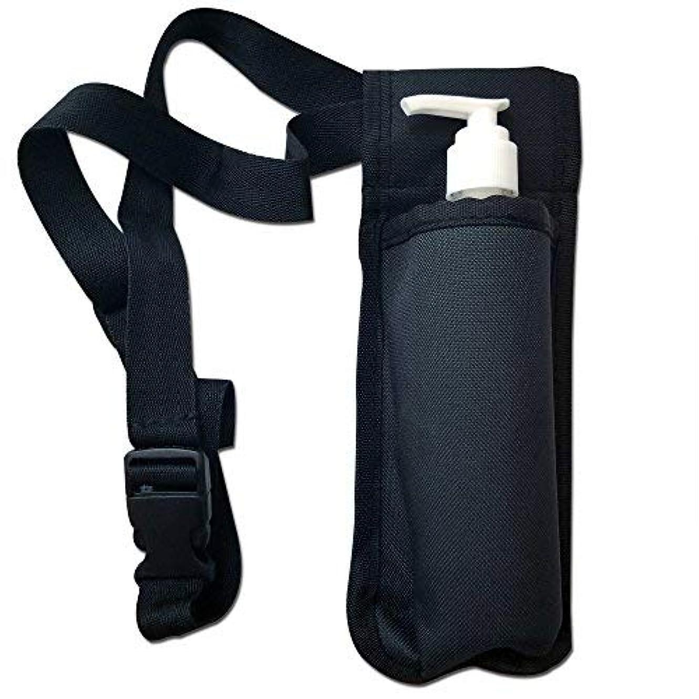 取得四流暢TOA Single Bottle Holster Adjustable Strap w/ 6oz Bottle for Massage Oil, Lotion, Cream [並行輸入品]