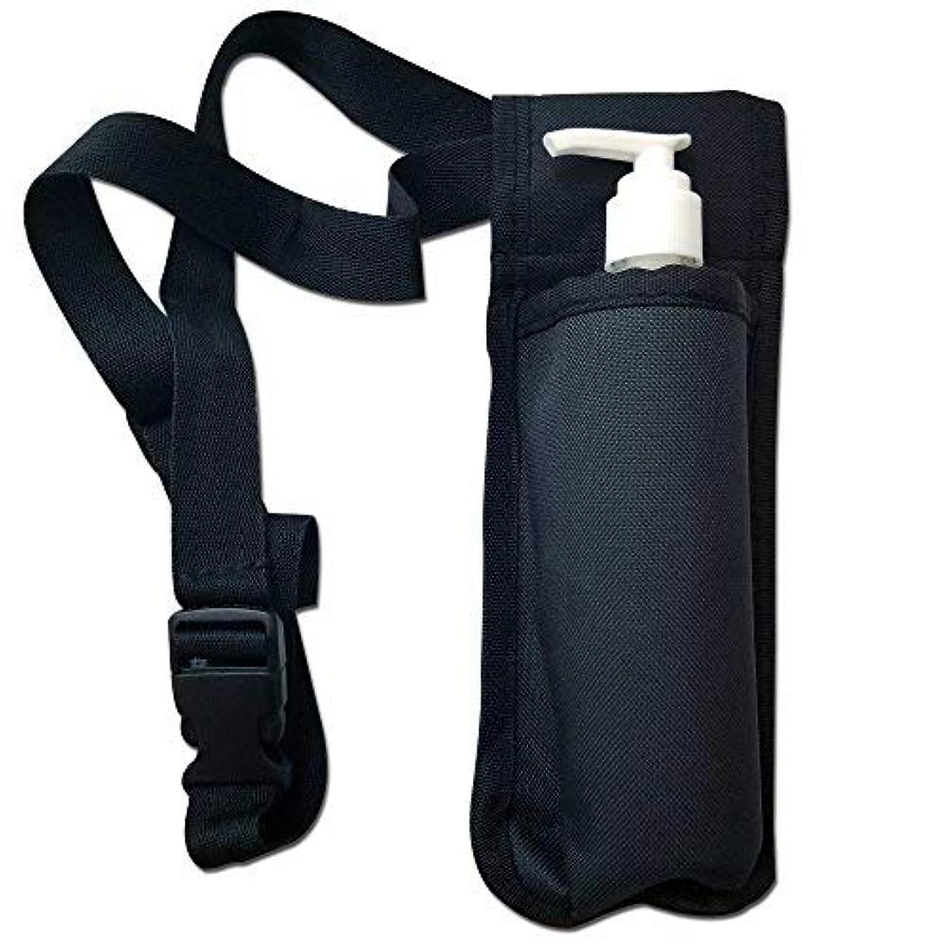 抑止するすり減る出身地TOA Single Bottle Holster Adjustable Strap w/ 6oz Bottle for Massage Oil, Lotion, Cream [並行輸入品]
