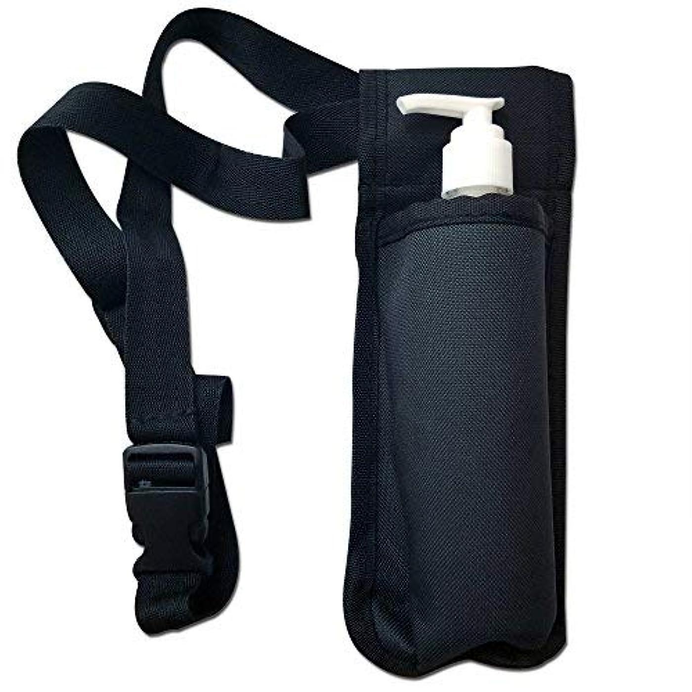 モノグラフシミュレートする雨のTOA Single Bottle Holster Adjustable Strap w/ 6oz Bottle for Massage Oil, Lotion, Cream [並行輸入品]