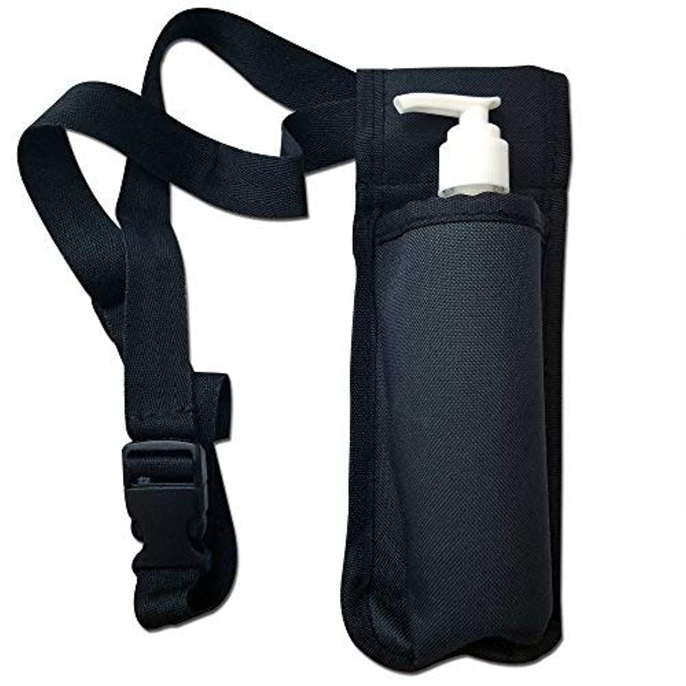 負荷グレー予防接種TOA Single Bottle Holster Adjustable Strap w/ 6oz Bottle for Massage Oil, Lotion, Cream [並行輸入品]