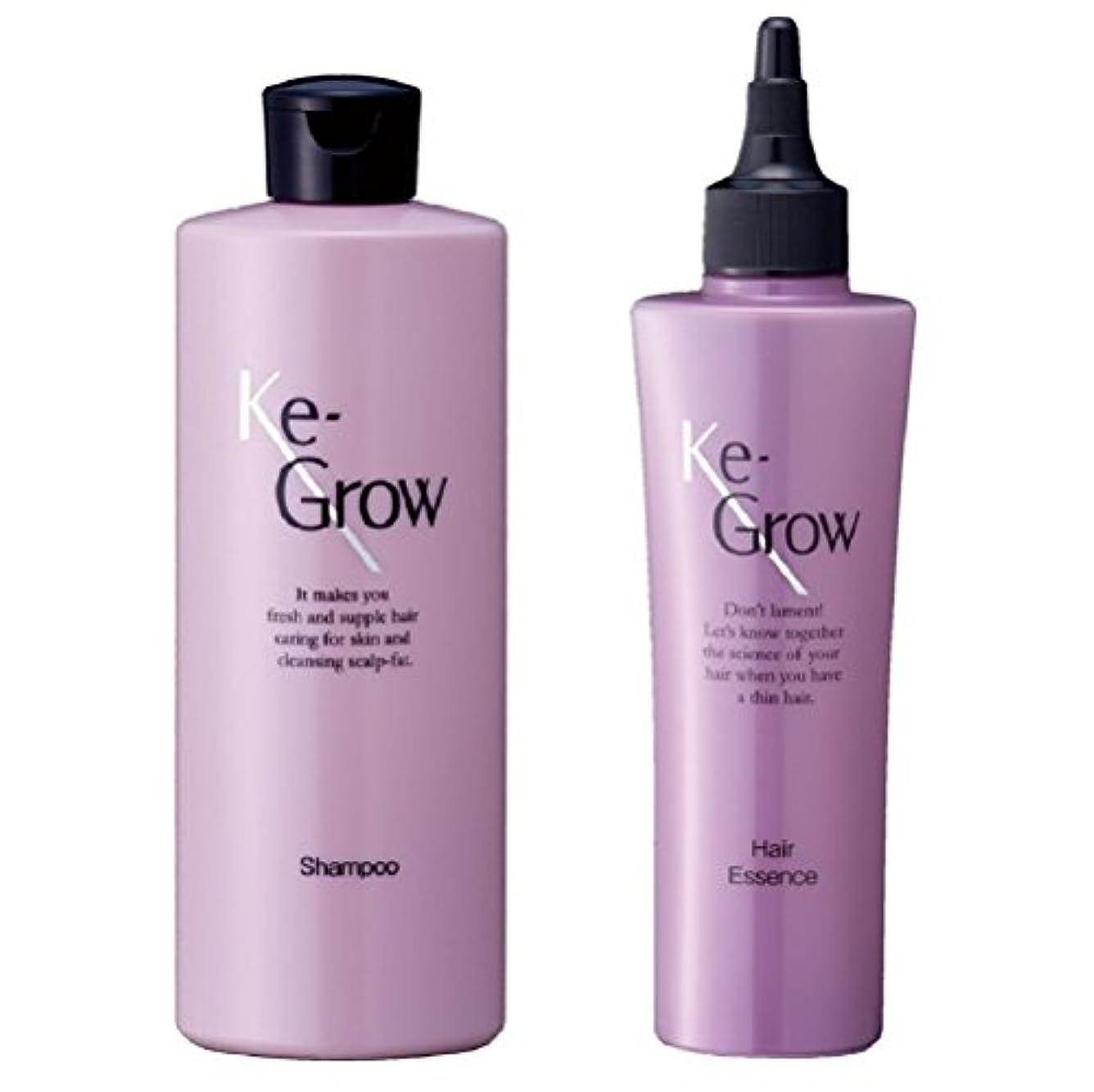 粘液支配する合法Ke-Grow 薬用ケイグロウ シャンプー 300ml & ヘアーエッセンス 150ml セット
