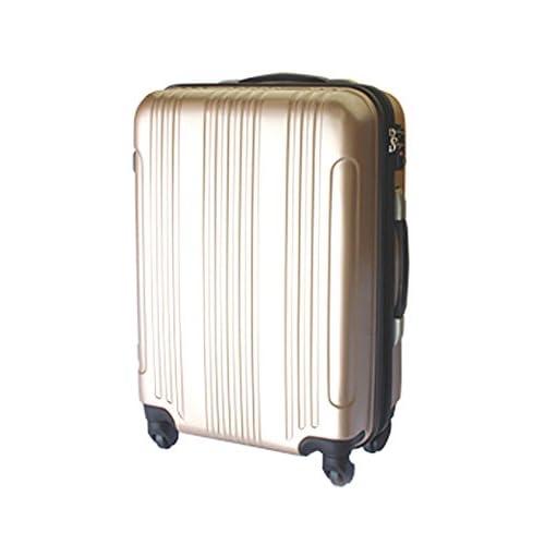 (グラディス・トラベル)GladysTravel スーツケース 4輪 Wファスナー 458330 Fサイズ ゴールド
