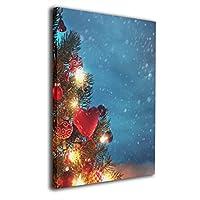 SkyDoor J 景色 クリスマスツリー インテリア 壁絵 アートフレーム モダン 壁掛け ポスタ アート 背景絵画 壁アート 枠なし 現代壁の絵 木製 壁掛け絵画 装飾画 かべ飾り 40×50