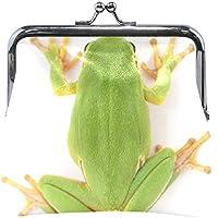 AOMOKI 財布 小銭入れ ガマ口 コインケース レディース メンズ レザー 丸形 おしゃれ プレゼント ギフト オリジナル 小物ケース カエル 緑