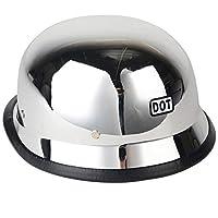 高品質オートバイdotヘルメットドイツミリタリースタイルクロームハーフヘルメット用ハーレーサイズml xl-M