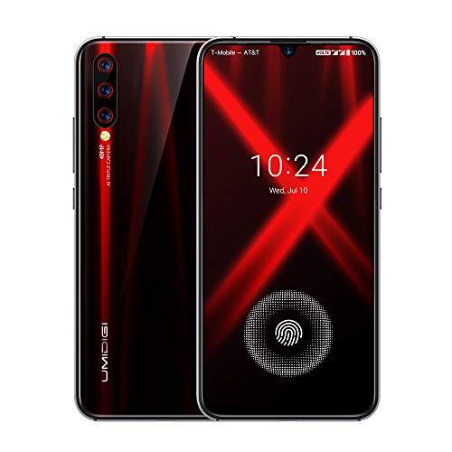 UMIDIGI X SIMフリースマートフォン 画面内蔵指紋センサー 6.35インチ 大画面 有機ELディスプレイ48MP+8MP+5MPトリプルアカラ 4GB RAM + 128GB R0M Helio P60オクタコア 4150mAh大容量バッテリー 18W高速充電 Android 9.0 顔認証 技適認証済み au不可 (ブラック)