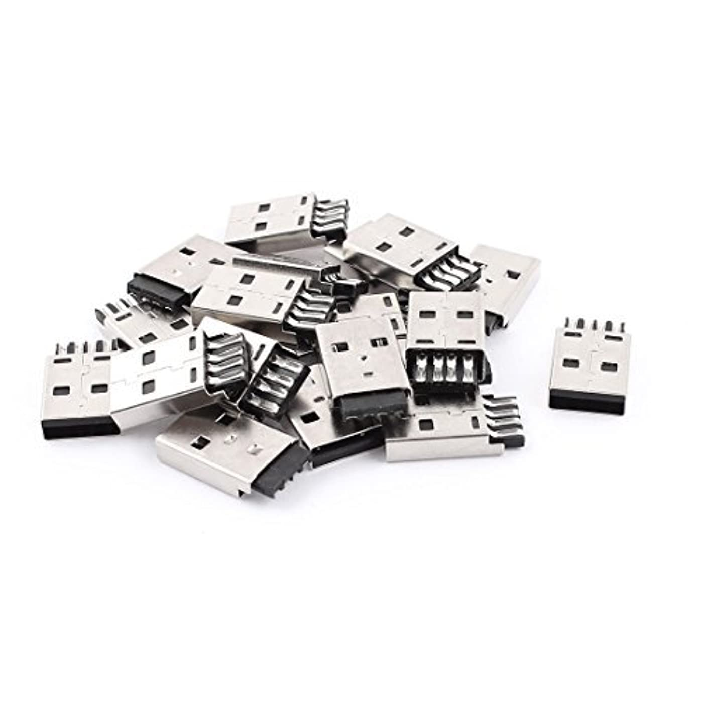 トラフ頼む崩壊DealMux USB 2.0 Tipo A Porto Masculino alfinete PCBマウントコネクタ20個