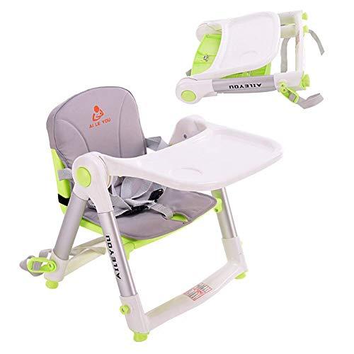 【DEARGENA】ベビーチェア スマートローチェア 折りたたみ式 赤ちゃん 安全 ローチェア 軽量 持ち運び快適 赤い イス 0~15キロ 折りたたんで持ち運べる (グリーン)