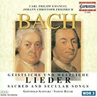 Sacred & Secular Songs by Bach & Bach (2008-12-15)