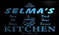 LED看板 ネオンプレート サイン 電飾 看板 カフェ バー pc697-b Selma's Family Name Kitchen Decor Neon Sign