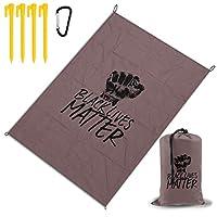 ブラック?ライブス?マター レジャー旅行シートピクニックマット防水145×200センチ折りたたみキャンプマット毛布オーニングテントライトと収納が簡単ポータブル巾着