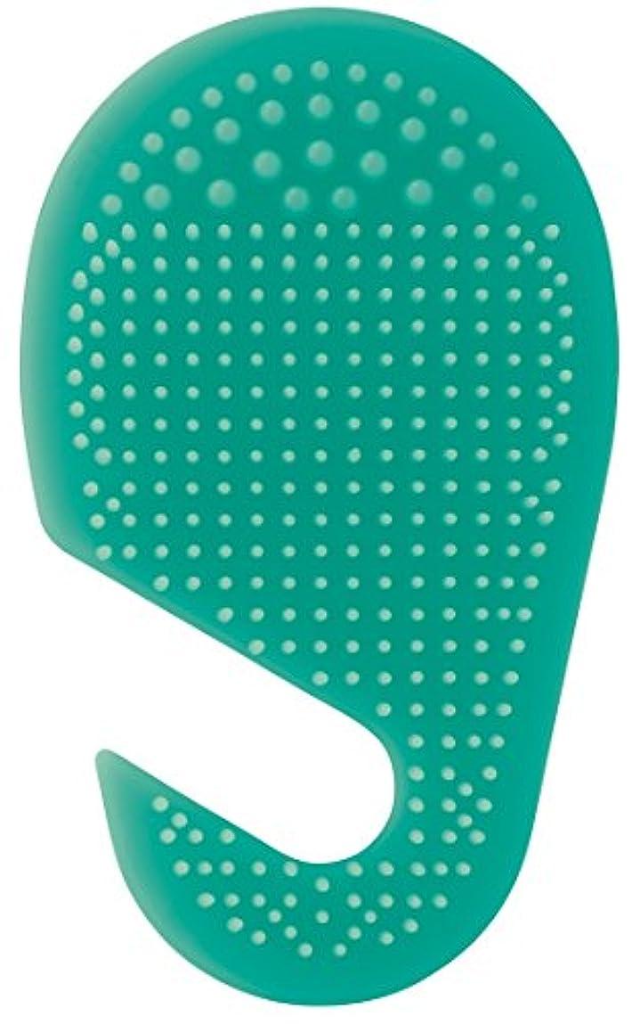 遊び場かご土曜日スケーター 足の裏用 マッサージ ブラシ 10.2×2×17cm グリーン SLFT1