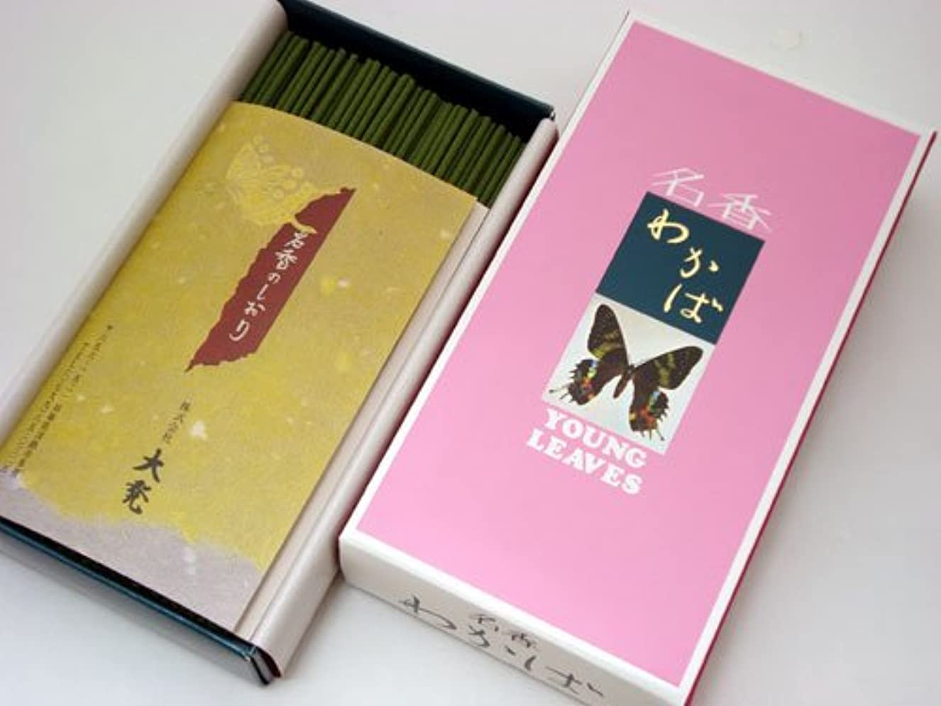 マスク珍味両方大発の線香  【名香わかば】 バラ詰 大箱