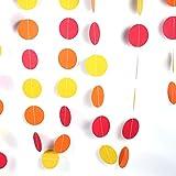 Eboxer 円型  飾りつけ 装飾 ペーパー製 誕生日 結婚式 パーティー 多色 美しい 約4M  デコレーション  インテリア ガーランド(G)