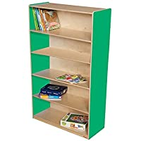 Wood Designs Kids Play Toy Book合板オーガナイザーwd12960gグリーンApple本棚、60