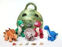 Unipak 12 Plush Dinosaur House with Dinosaurs - Five (5) Stuffed Animal Dinosaur in Play Dinosaur Carrying Case (2 T-Rex 1 Triceratops 1 Stegosaurus 1 Brachiosaurus) + Free Bonus Five Mini Dinosaur Figures [並行輸入品]