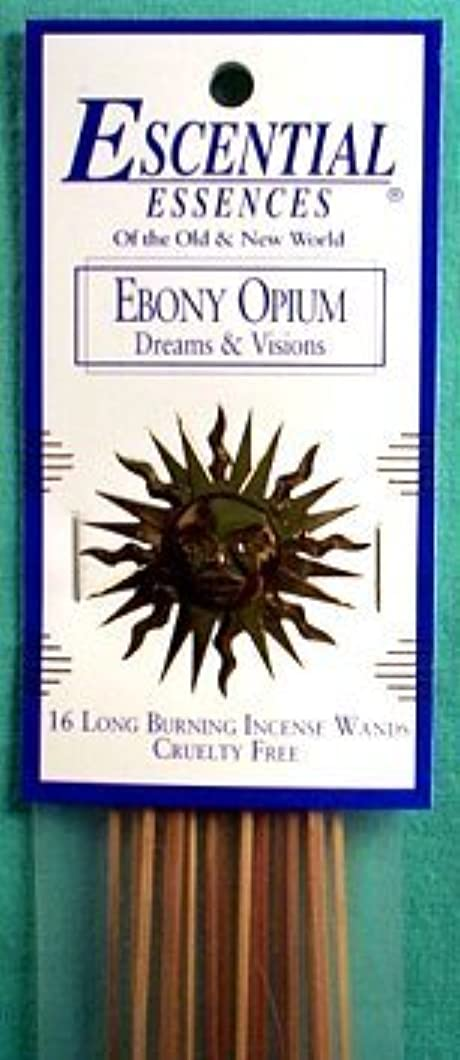 にやにや学士ランチエボニーOpium Escential Essences Incense Sticks
