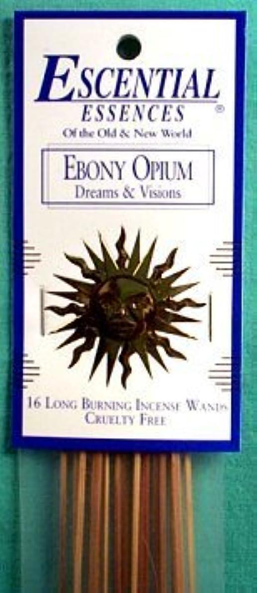 豚肉長椅子比率エボニーOpium Escential Essences Incense Sticks