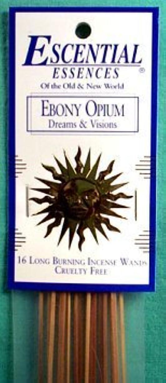 確実寛大な細いエボニーOpium Escential Essences Incense Sticks